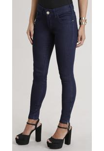 Calça Jeans Feminina Super Skinny Azul Escuro