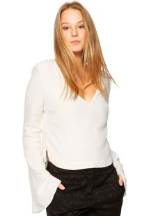 Blusa Animale Crepe Off-White