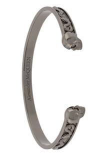 Alexander Mcqueen Twin Skull Bracelet - Preto
