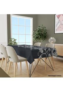 Toalha De Mesa Retangular 10-12 Lugares Alimentos 1.45M X 3.20M Único