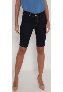 Bermuda Jeans Com Bolsos- Azul Escuro- Lança Perfumelança Perfume