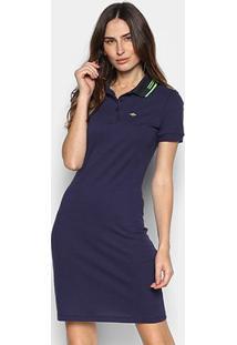 Vestido Polo Triton Logo - Feminino-Azul Escuro