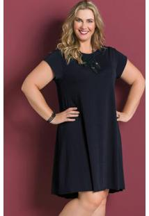 bdb04be05 ... Vestido Soltinho Preto Marguerite Plus Size
