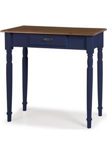 Aparador Mini Elegance Azul Petroleo Pes Torneados 80Cm - 59843 - Sun House