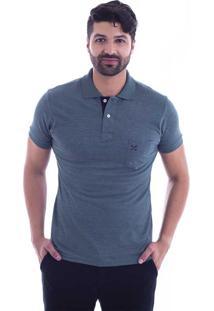 68a1c3b5e7 ... Camisa Polo Live Lifestyle Com Bolso Verde Militar 405-09 - G3