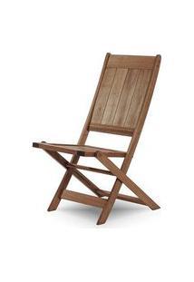 Cadeira Retangular Dobravel Acqualung+ S/Braco Stain Nogueira 99Cm - 61634 Stain Nogueira