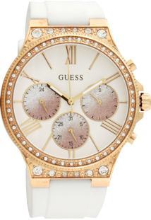 Relógio Guess 92744Lpgsru2 Branco/Rosa