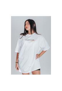 Camiseta Feminina Oversized Boutique Judith Peaches Branco