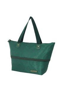 Bolsa Expansivel Tam. G Damasco Jacki Design Essencial Ii Verde