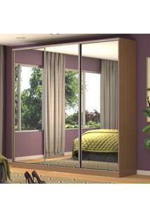 Guarda-Roupa Casal 3 Portas Correr 3 Espelhos 100% Mdf Rc3001 Ocre - Nova Mobile