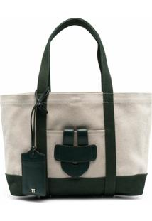 Tila March Simple Colour-Block Tote Bag - Neutro