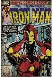 Quadro Homem De Ferro Capa