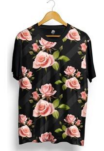 Camiseta Bsc Wall Dark Flower Full Print - Masculino