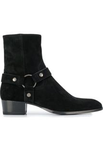 Saint Laurent Ankle Boot Wyatt - Preto