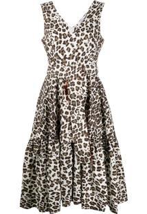 P.A.R.O.S.H. Vestido Com Estampa De Leopardo - Marrom