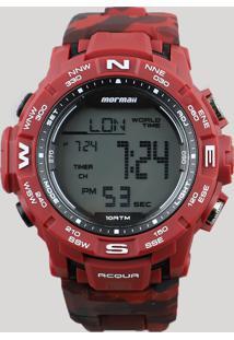 Relógio Digital Mormaii Masculino - Mo1173A8R Vermelho - Único