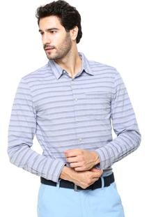 Camisa Hering Slim Listras Cinza