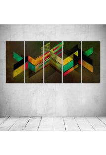 Quadro Decorativo - Retro Shapes - Composto De 5 Quadros - Multicolorido - Dafiti