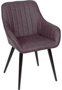 Cadeira Florenã§A - Cafã© & Preta - 81,5X77X49Cm -Or Design