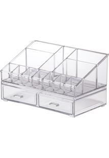 Kit Organizador Cosméticos 22X12,5X12,5Cm - Paramount - Cristal
