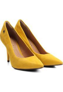 Scarpin Via Uno Salto Alto Bico Fino - Feminino-Amarelo