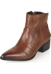 Bota Cano Curto Paola Constance Country Chic Tabaco