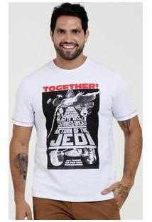 Camiseta Masculina Estampa Star Wars Manga Curta Disney