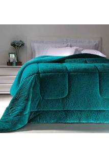 Cobertor Dupla Face Extramacio Casal Duo Blanket Verde Água - 100% Poliéster - Kacyumara