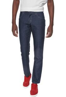 Calça Jeans Rock Blue Slim Pespontos Azul