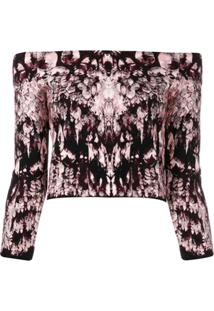 Alexander Mcqueen Off-The-Shoulder Knitted Top - Rosa