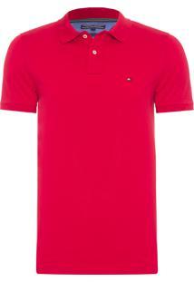 Polo Masculina Slim Fit - Vermelho