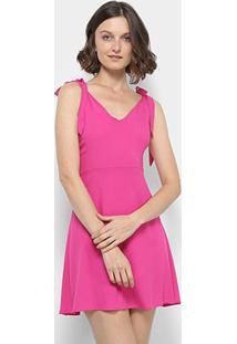 Vestido Acrobat Com Alça Laço Feminina - Feminino-Rosa