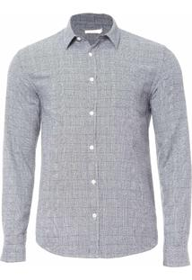 Camisa Masculina Pied Poule - Cinza
