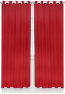 Cortina Santista Versalhes Lisa 230X280 Carmim Vermelha