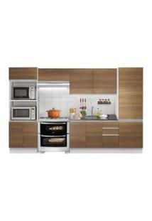Cozinha Completa Madesa 100% Mdf Acordes Glamy 2 Gavetas 11 Portas Rustic/Branco