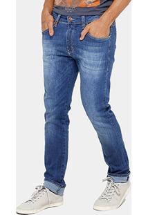 Calça Jeans Reta Colcci Felipe Indigo Masculina - Masculino