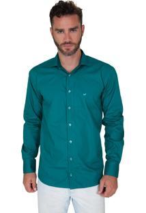 Camisa Lupim Slim Fit Verde Água