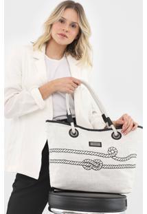 Bolsa Santa Lolla Corda Branca - Branco - Feminino - Dafiti