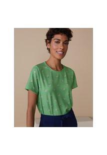 Amaro Feminino Camiseta Estampada Special, Funny Dots Pink