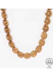 Bracelete Geométrico Com Tag - Dourado - 1,5X41Cmversace