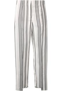 0f3499298 Farfetch. Jil Sander Striped Trousers - Branco