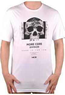 Camiseta Mcd Skull Face Masculina - Masculino-Branco