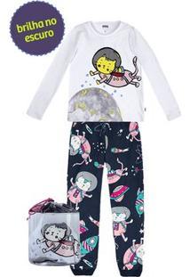 Pijama Infantil Menina Que Acompanha Organizador De Brinquedos Puc [] []