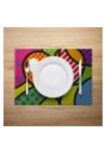 Jogo Americano 6Pçs Abstrato Multicolorido - Mdecore