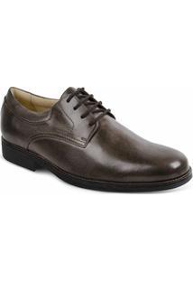 Sapato Social Masculino Derby Sandro Moscoloni Tomp Marrom Escuro