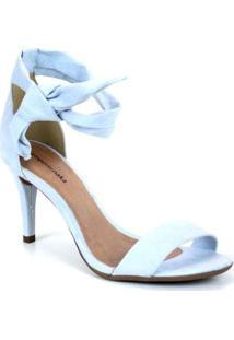 Sandália Emporionaka Suede Slim Feminina - Feminino-Azul