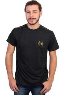 Camiseta England Polo Club Tagless Masculina - Masculino-Preto