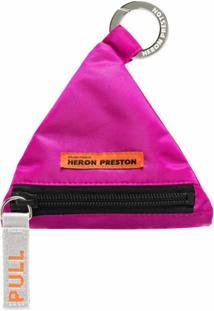 Heron Preston Carteira Com Chaveiro Triangular - Rosa