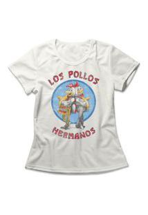 Camiseta Feminina Los Pollos Hermanos Off-White
