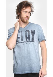 Camiseta Tigs Gola V Estonada Masculina - Masculino
